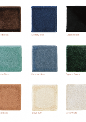 Heritage Glazed Collection Color Palette