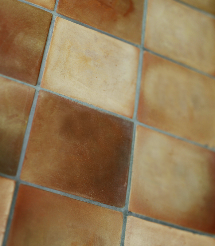 Unglazed floor tiles