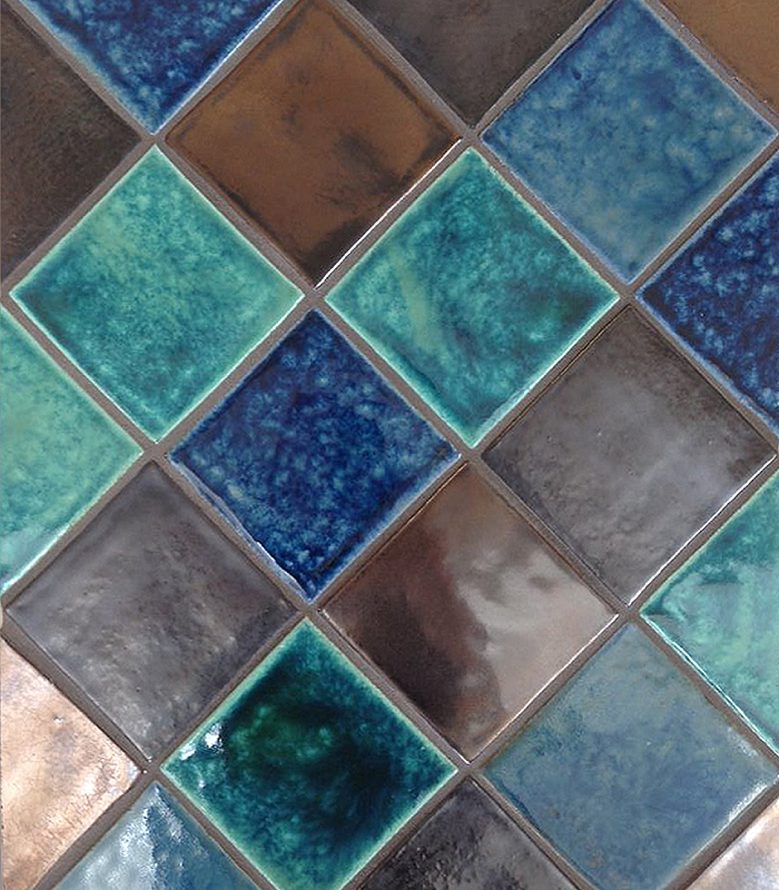 Moroccan Blend – Jade Green, Blue Lapis, Burnt Umber Metallic, Vintage Sterling Metallic