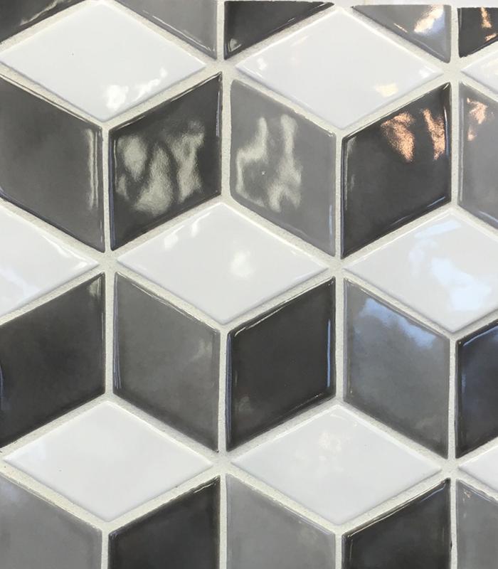 Potter's Wall Rhomboid Cube Design