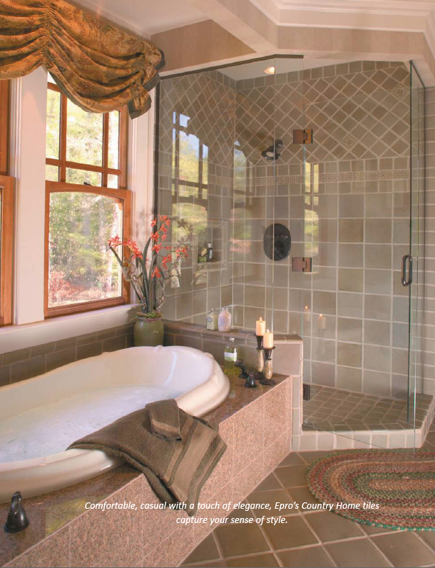 Country Home, Quail, Floor and Shower Tile