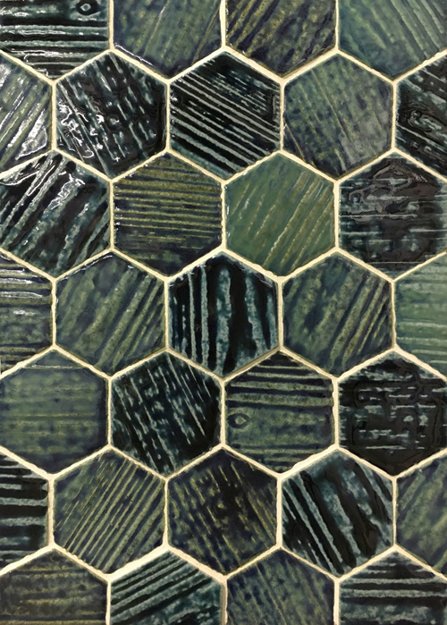 Epro Wood, Hex 3″ Jade Green